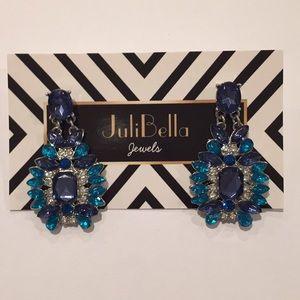 Jewelry - Fashion Summer Statement Earrings Silver Blue